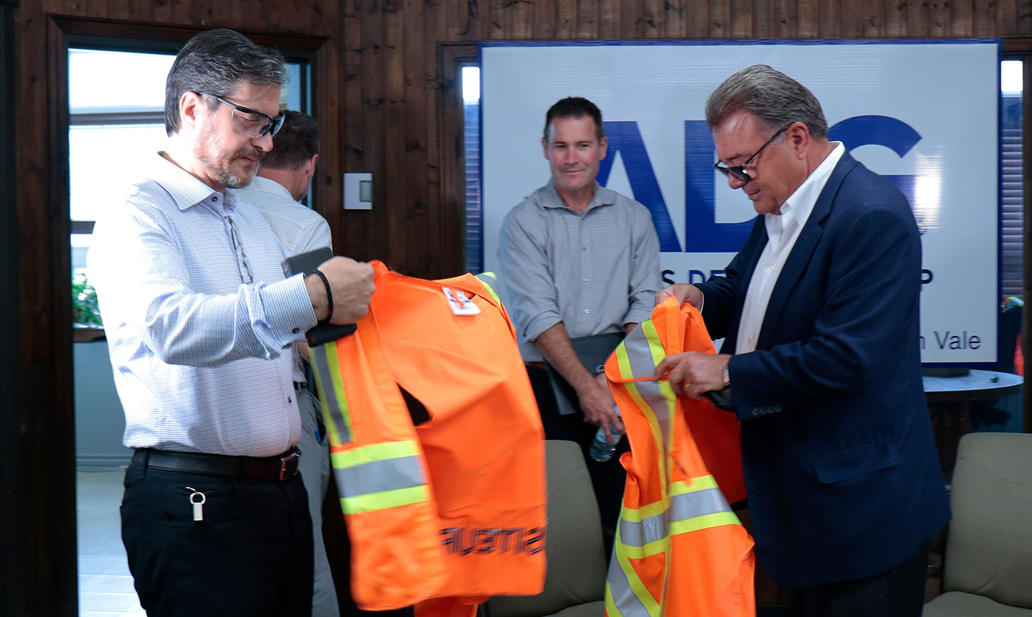 AirBoss leadership visit Acton Vale